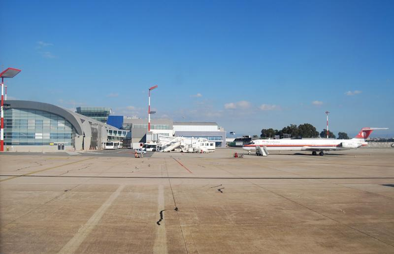 The incident took place at Cagliari airport: Getty Images