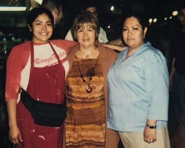 PHOTO: Writer and activist Julissa Arce (left) in a photo next to her mother and sister in front of their family's funnel cake stand in San Antonio, Texas. (Courtesy Julissa Arce)
