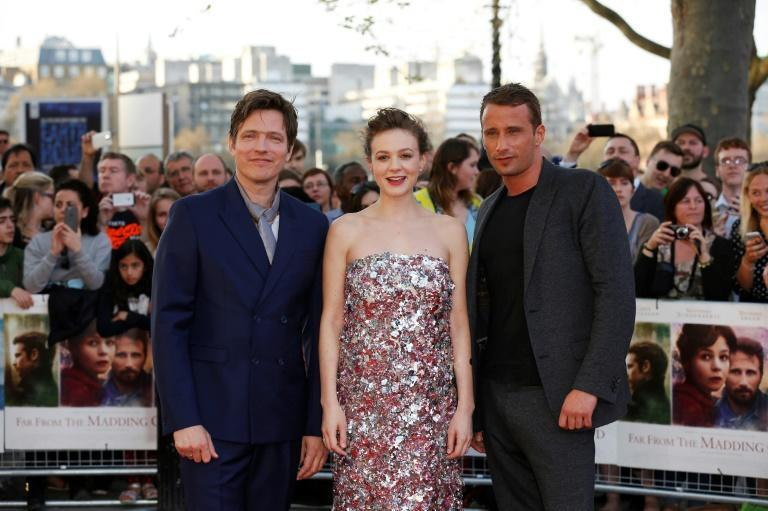 "Thomas Vinterberg (L) directed British actress Carey Mulligan (also an Oscar nominee this year) and Belgian actor Matthias Schoenaerts (R) in the 2015 film ""Far From The Madding Crowd"""