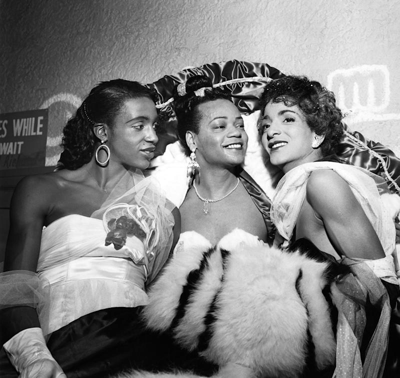 Image: Female impersonators in 1954 (G. Marshall Wilson / Ebony Collection)