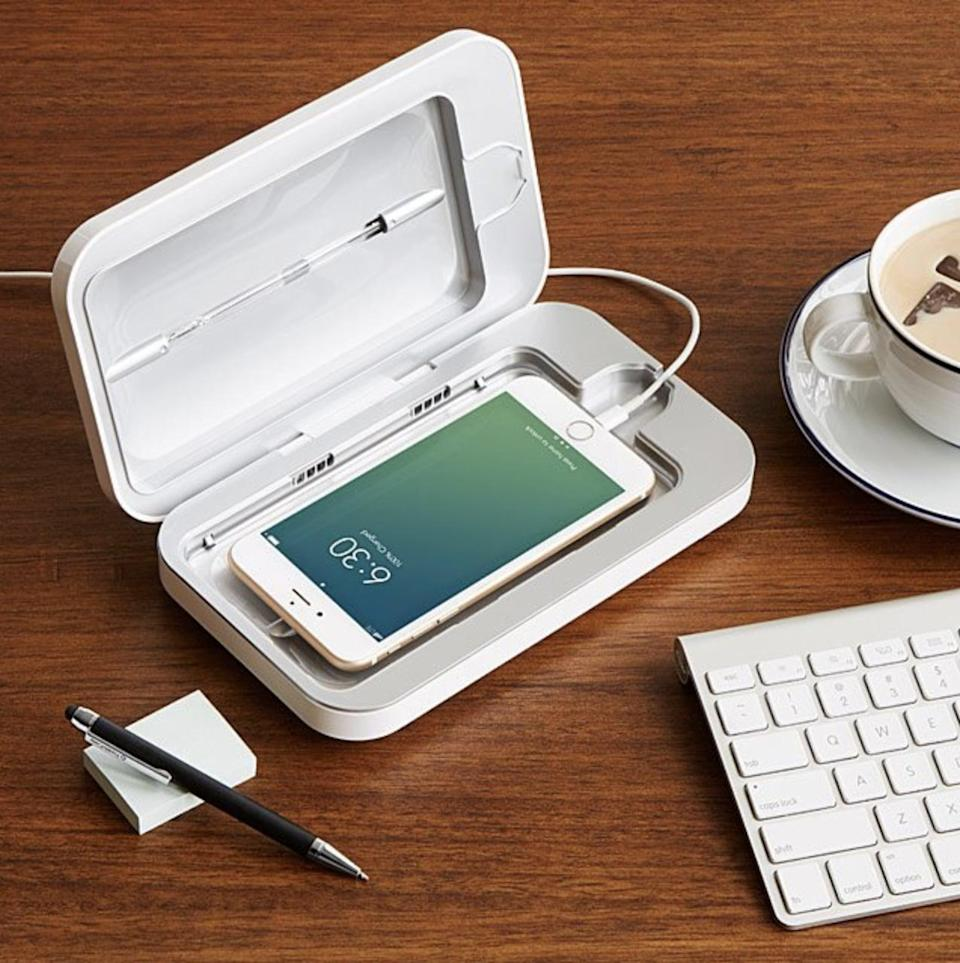 <p>Keep germs away with this handy <span>PhoneSoap Smartphone Sanitizer</span> ($80 - $100).</p>