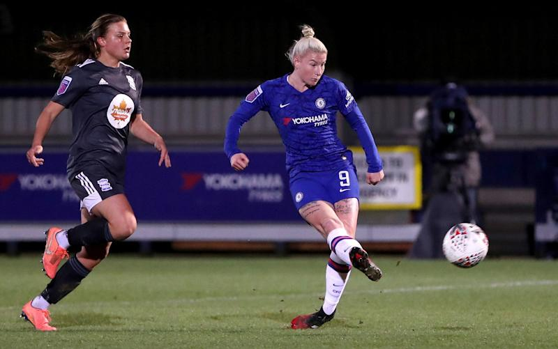 Beth England in action for Chelsea against Birmingham City earlier this month - GETTY IMAGES