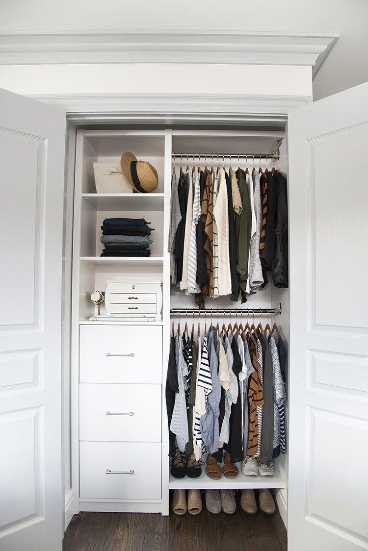 "<p>Leave no space untouched! Create an organizational system that puts every square inch to good use, then fill any open shelves with bins, jewelry organizers, and folded items. <br></p><p>See more at <a href=""https://roomfortuesday.com/my-master-closet/"" rel=""nofollow noopener"" target=""_blank"" data-ylk=""slk:Room For Tuesday."" class=""link rapid-noclick-resp"">Room For Tuesday.</a> </p>"