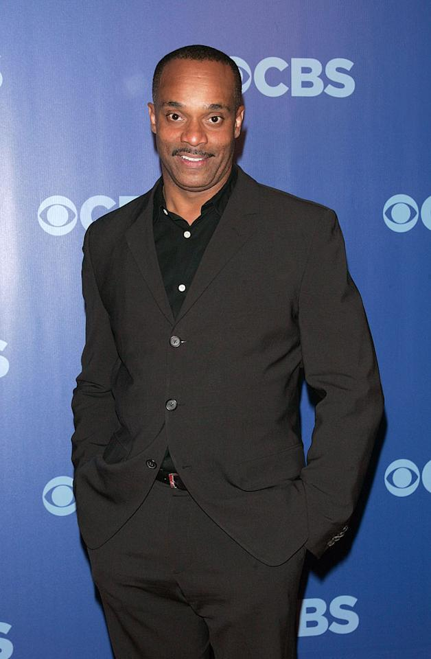 "<a href=""/rocky-carroll/contributor/245708"">Rocky Carroll</a> (""<a href=""/ncis/show/35460"">NCIS</a>"") attends the 2010 CBS Upfront at The Tent at Lincoln Center on May 19, 2010 in New York City."