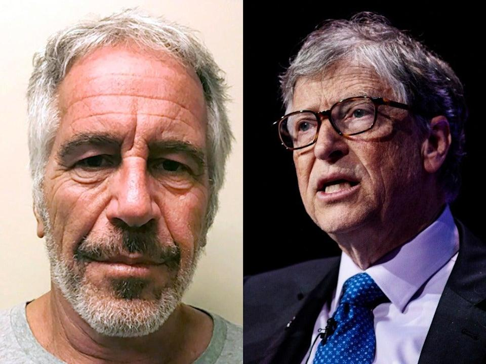 <p>Bill Gates (right) has faced questions in the past regarding his ties to Jeffrey Epstein (left) who was arrested in 2019 on federal charges of sex trafficking and died by suicide while awaiting trial</p> (New York State Sex Offender Registry (left) Getty Images (right))