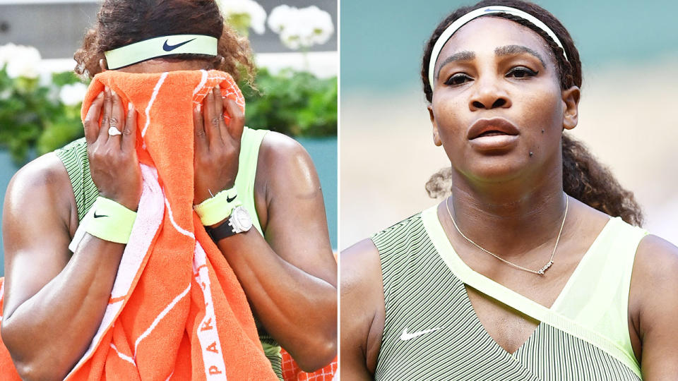 Serena Williams, pictured here in action at the French Open.