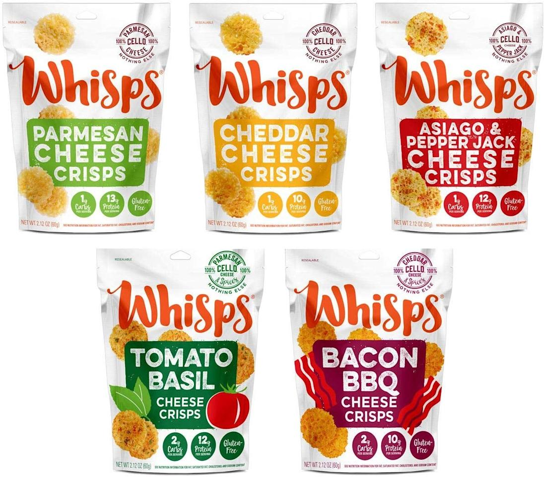 "<p>This low-carb <a href=""https://www.popsugar.com/buy/Whisps-Cheese-Crisps-100-Cheese-Crunchy-Assortment-508315?p_name=Whisps%20Cheese%20Crisps%20100%25%20Cheese%20Crunchy%20Assortment&retailer=amazon.com&pid=508315&price=20&evar1=fit%3Aus&evar9=45413210&evar98=https%3A%2F%2Fwww.popsugar.com%2Fphoto-gallery%2F45413210%2Fimage%2F46823505%2FWhisps-Cheese-Crisps-100-Cheese-Crunchy-Assortment&list1=shopping%2Cgifts%2Camazon%2Choliday%2Chealthy%20snacks%2Csnacks%2Cstocking%20stuffers%2Cgift%20guide%2Chealthy%20living%2Cfood%20shopping%2Cgifts%20for%20women%2Cgifts%20for%20men%2Cgifts%20under%20%24100%2Cgifts%20under%20%2450%2Cgifts%20under%20%2475%2Cketo%20diet&prop13=api&pdata=1"" rel=""nofollow"" data-shoppable-link=""1"" target=""_blank"" class=""ga-track"" data-ga-category=""Related"" data-ga-label=""https://www.amazon.com/Whisps-Cheese-Crisps-Crunchy-Assortment/dp/B07D5JGVN6/ref=sr_1_2_sspa?keywords=keto+gifts&amp;qid=1572374918&amp;sr=8-2-spons&amp;psc=1&amp;smid=A1O9I0PFIHK5TL&amp;spLa=ZW5jcnlwdGVkUXVhbGlmaWVyPUE5U0NPNjM5QU41UlEmZW5jcnlwdGVkSWQ9QTAxNjU0NzYzSjQ1VFBHVTQzOUhEJmVuY3J5cHRlZEFkSWQ9QTA2OTExMTVDNURMWkhLTlNYS1Emd2lkZ2V0TmFtZT1zcF9hdGYmYWN0aW9uPWNsaWNrUmVkaXJlY3QmZG9Ob3RMb2dDbGljaz10cnVl"" data-ga-action=""In-Line Links"">Whisps Cheese Crisps 100% Cheese Crunchy Assortment</a> ($20) is so good, we kind of want it for ourselves.</p>"