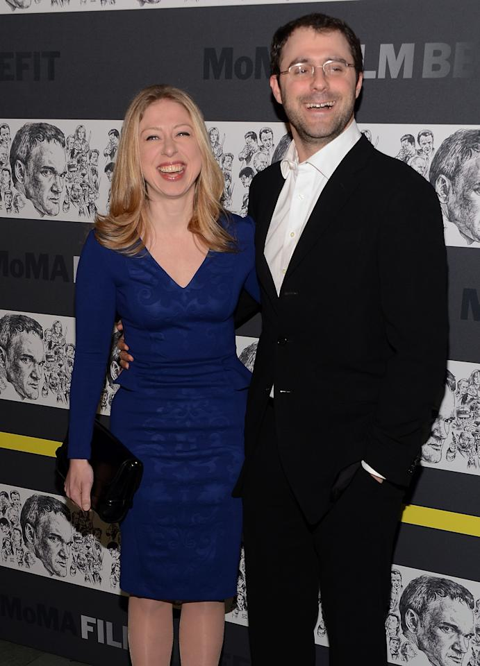 NEW YORK, NY - DECEMBER 03:  (L-R) Chelsea Clinton and Marc Mezvinsky attend The Museum of Modern Art Film Benefit Honoring Quentin Tarantino at MOMA on December 3, 2012 in New York City.  (Photo by Andrew H. Walker/Getty Images)