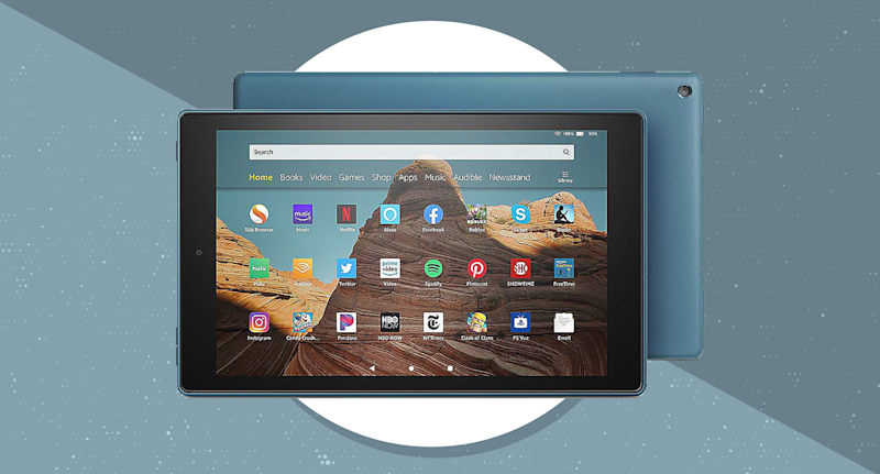 When you buy this Amazon Fire HD 10 tablet, you'll get a 32GB microSD card for free. (Photo: Amazon)