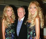 """<p>Sandy and """"Mandy"""" Bentley became known as the Bentley Twins when they started a career as <em>Playboy</em> models in the late '90s. The twins later became Hugh Hefner's girlfriends and lived in the mansion with him. </p>"""