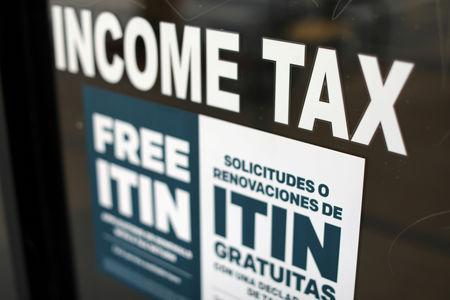FILE PHOTO: Tax preparation office pictured in Los Angeles