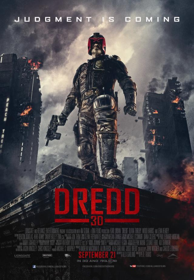 The poster for the theatrical release of <em>Dredd</em>. (Image: Lionsgate)