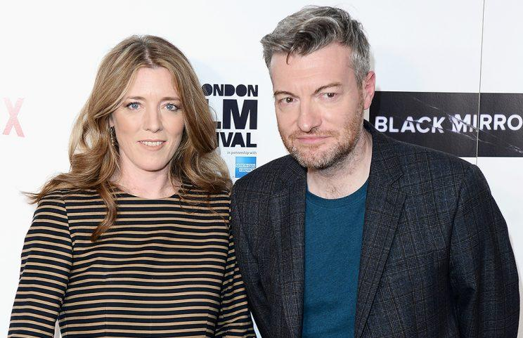 'Black Mirror' masterminds Annabel Jones and Charlie Booker (Photo by Jeff Spicer/Getty Images)