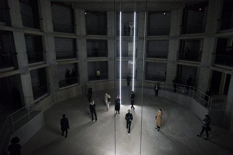 <span>The underground auditorium in which Taryn Simon's An Occupation of Loss is set</span> <span>Credit: Hugo Glendinning Courtesy Artangel and Taryn Simon Projects </span>