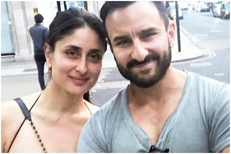 Saif Ali Khan Poses with Kareena Kapoor in New Photo, Shows off Massive Tattoo on Left Arm