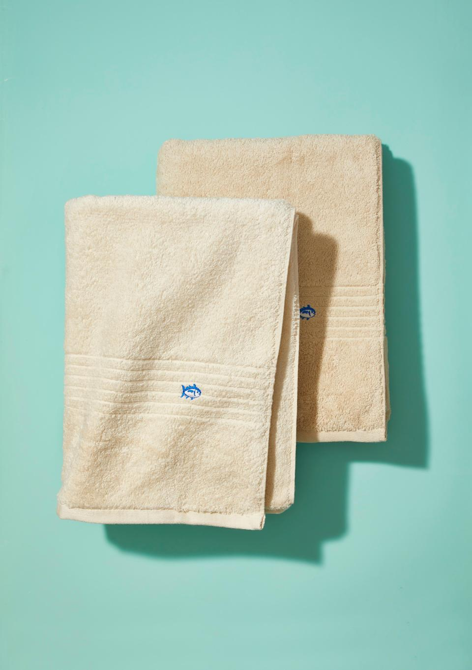 """<p><strong>Southern Tide</strong></p><p>amazon.com</p><p><strong>$16.99</strong></p><p><a href=""""http://www.amazon.com/dp/B07D8JJXD7/?tag=syn-yahoo-20&ascsubtag=%5Bartid%7C10055.g.27332121%5Bsrc%7Cyahoo-us"""" rel=""""nofollow noopener"""" target=""""_blank"""" data-ylk=""""slk:Shop Now"""" class=""""link rapid-noclick-resp"""">Shop Now</a></p><p>These super-affordable towels received strong scores from the GHI for absorbency, drying speed, softness and fabric strength. And at this price, you can buy a ton of them and procrastinate on doing laundry. </p>"""