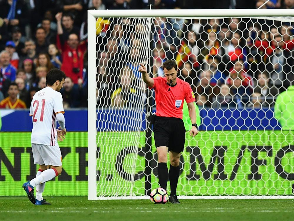 The trialed VAR was twice a success in the France vs Spain match on Tuesday night: Getty
