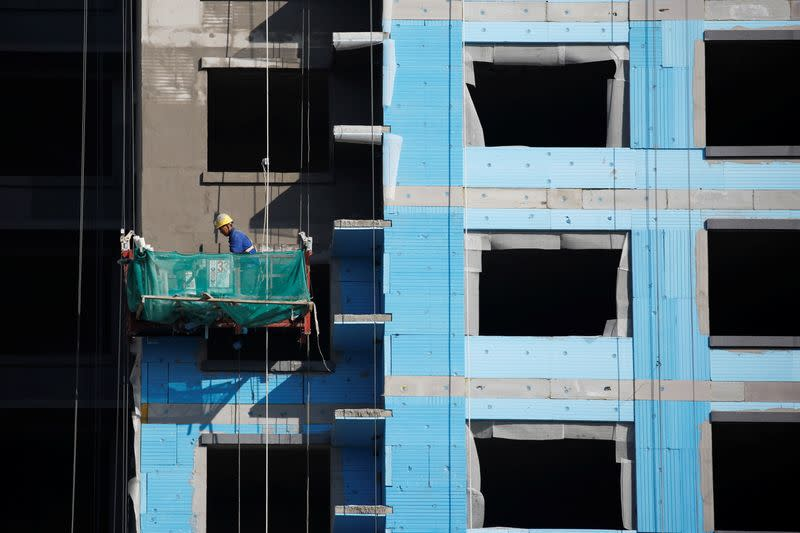 Construction site of a residential compound in Beijing