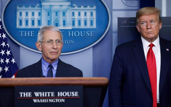 Tensions between Mr Trump and Dr Fauci have emerged in recent weeks - REUTERS