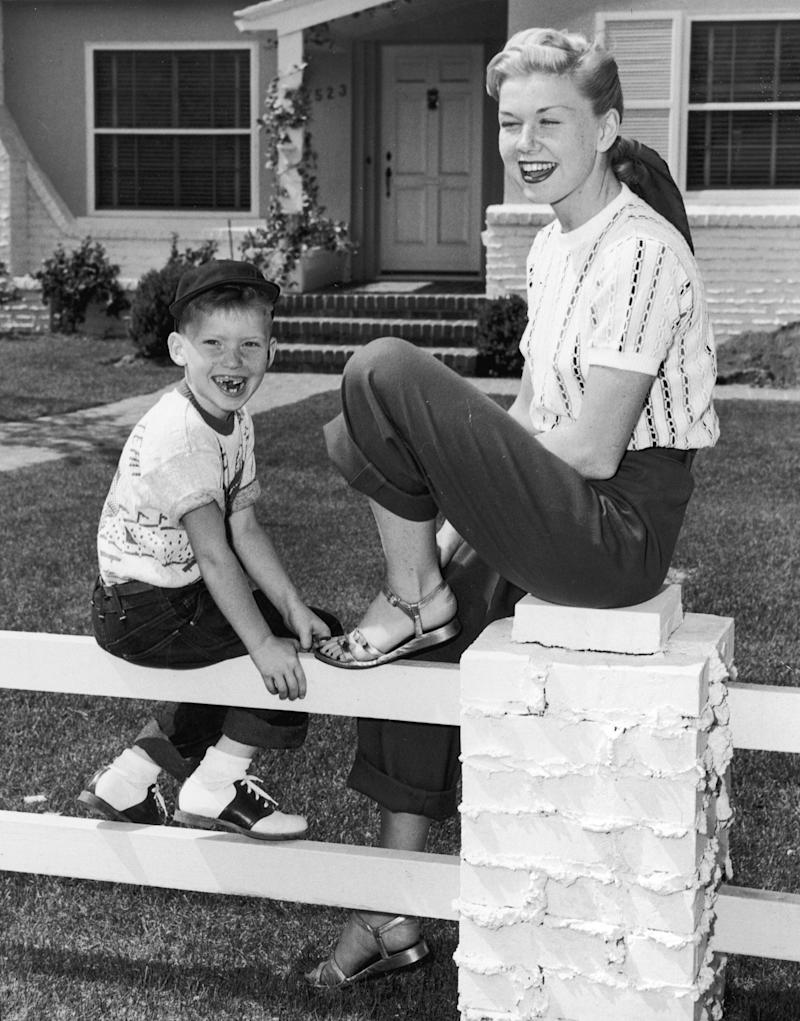 Doris Day with her son Terry in 1950, whose son Ryan Melcher has spoken out.