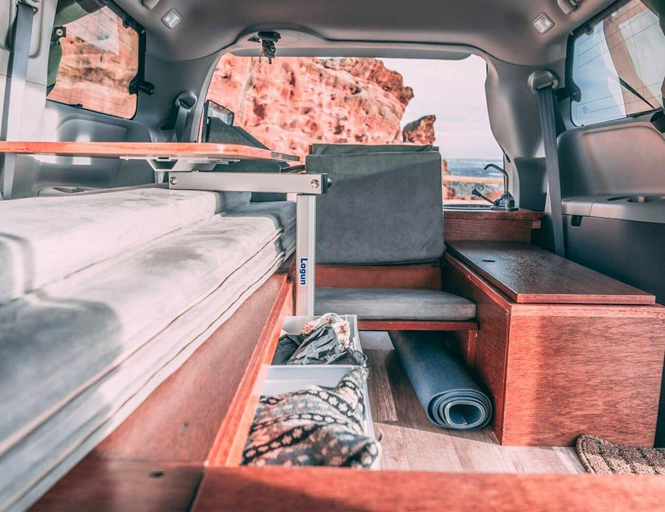 """<p>In spite of the comparatively tidy proportions of a minivan, Oasis Campervans managed to cram all the comforts of home into a Toyota Sienna — though admittedly, you can't use them all at once.</p><p><a class=""""link rapid-noclick-resp"""" href=""""https://www.gearpatrol.com/cars/a736626/toyota-sienna-camper-van-by-oasis-campervans/"""" rel=""""nofollow noopener"""" target=""""_blank"""" data-ylk=""""slk:LEARN MORE"""">LEARN MORE</a></p>"""