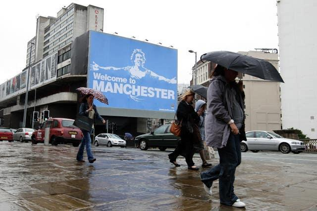 Manchester City upset former Manchester United boss Sir Alex Ferguson with a provocative billboard