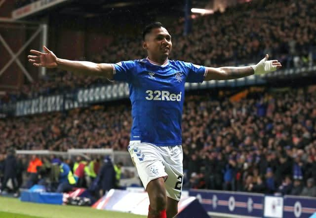 Alfedo Morelos has scored 29 times for Rangers this season (Andrew Milligan/PA)