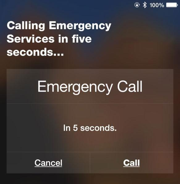A simple instruction will call triple-0 for you, or whatever the local emergency services are. Source: Supplied