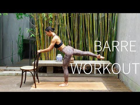 """<p>Love <a href=""""https://www.womenshealthmag.com/uk/fitness/workouts/a34582084/barre/"""" rel=""""nofollow noopener"""" target=""""_blank"""" data-ylk=""""slk:Barre"""" class=""""link rapid-noclick-resp"""">Barre</a> but not able to get to the studio? We've got you covered. Sculpt and lengthen with instructor Nicole through this strengthening Barre leg workout. </p><ul><li><strong>How long? </strong>15 minutes</li><li><strong>Equipment: </strong>A chair or solid surface, yoga mat</li></ul><p><a href=""""https://www.youtube.com/watch?v=-4D4AX3HXDA&ab_channel=MoveWithNicole"""" rel=""""nofollow noopener"""" target=""""_blank"""" data-ylk=""""slk:See the original post on Youtube"""" class=""""link rapid-noclick-resp"""">See the original post on Youtube</a></p>"""