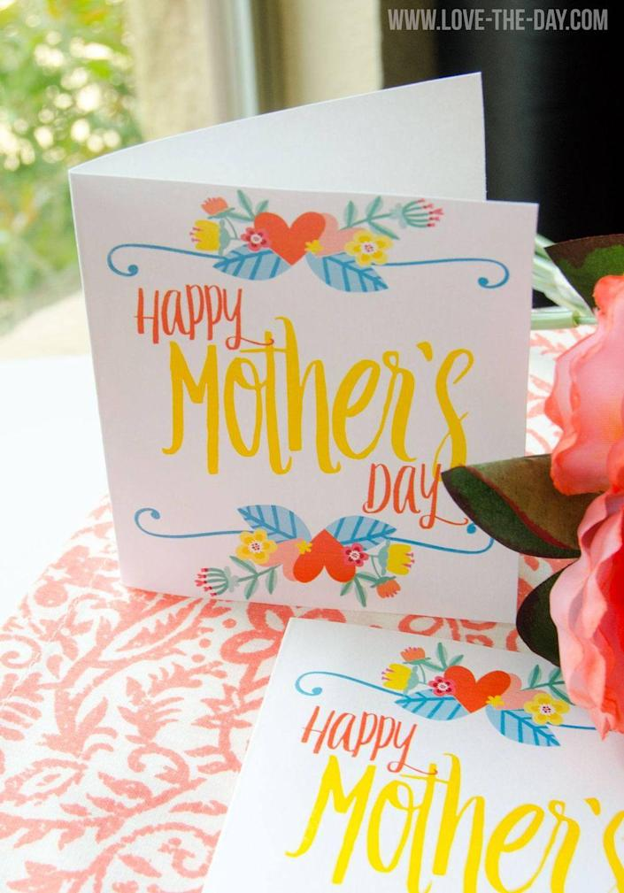 """<p>Wish your mom a sunshine-y day with this super happy card.</p><p><strong>Get the printable at <a href=""""http://love-the-day.com/mothers-day-card/"""" rel=""""nofollow noopener"""" target=""""_blank"""" data-ylk=""""slk:Love the Day"""" class=""""link rapid-noclick-resp"""">Love the Day</a></strong><strong>.</strong></p>"""