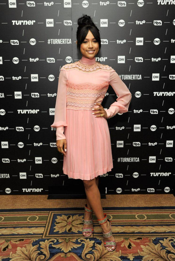 Actress Karrueche Tran looked pretty in pink in Gucci (Photo:Getty Images).