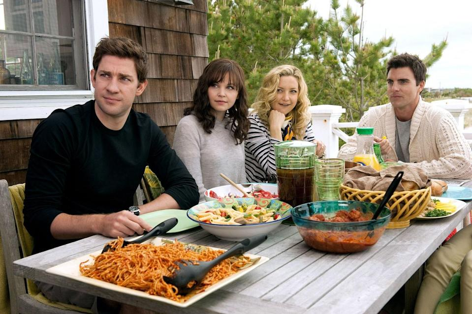 """<p>Like a good beach read, <em>Something Borrowed</em> is breezy, mindless fun filled with love triangles and messy romantic drama. But it's the lush Hamptons scenery that earns it a spot in this roundup. Although, bonus points to Kate Hudson and Ginnifer Goodwin for their throwback """"Push It"""" dance routine.</p> <p><a href=""""https://www.amazon.com/Something-Borrowed-Kate-Hudson/dp/B00B99LIZ2"""" rel=""""nofollow noopener"""" target=""""_blank"""" data-ylk=""""slk:Available to rent on Amazon Prime Video"""" class=""""link rapid-noclick-resp""""><em>Available to rent on Amazon Prime Video</em></a></p>"""