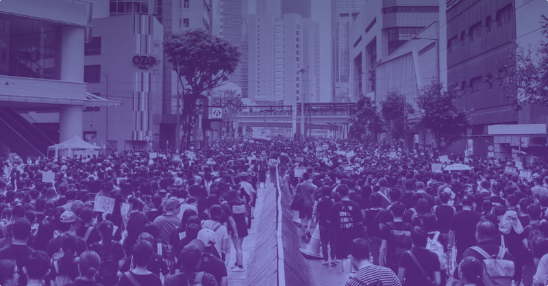 Hong Kong protestors use peer-to-peer messaging apps for secret chats