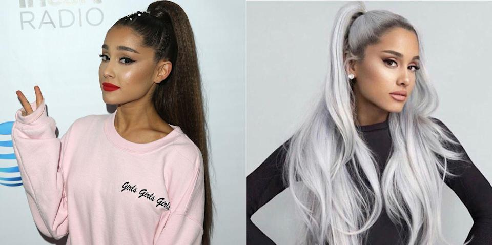 <p>Between an engagement, an upcoming album and now a dramatic hair transformation, it's an exciting time for Ariana. Maybe she's just overworked and the gray happened naturally...Just kidding, we love the icy new look!</p>