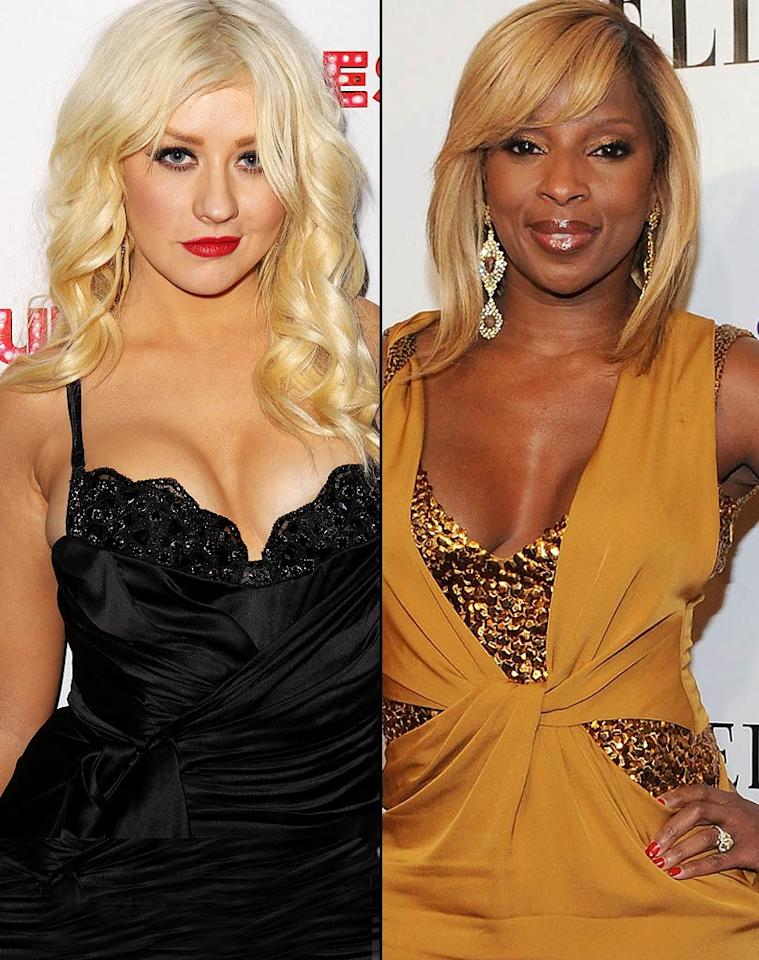 """Rather than savoring her comeback courtesy of 'The Voice,' Christina Aguilera shocked onlookers by snubbing Mary J. Blige"" at a benefit concert Blige held in New York for disadvantaged women, reports <i>In Touch</i>. The magazine notes, ""After warbling through one song, Christina left the stage without even acknowledging Mary or the charity,"" and then showed up to the benefit's after party ""drunk and three hours late!"" For how ugly it then got between the two divas, read what an insider dishes to <a href=""http://www.gossipcop.com/christina-aguilera-ffawn-mary-j-blige/"" target=""new"">Gossip Cop</a>. GettyImages.com/WireImage.com"