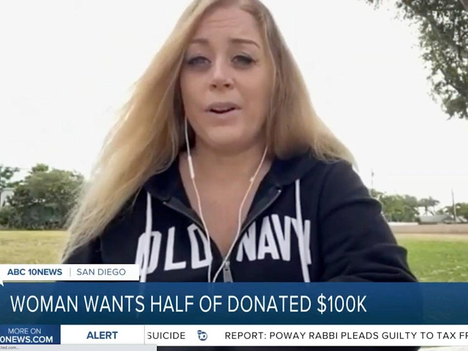 Gilles says she wants half of the money that was raised for Gutierrez.