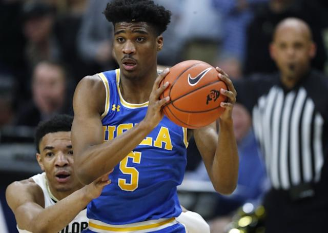 "UCLA guard Chris Smith averaged 13.1 points and 5.4 rebounds per game this season for the Bruins. <span class=""copyright"">(David Zalubowski / Associated Press)</span>"