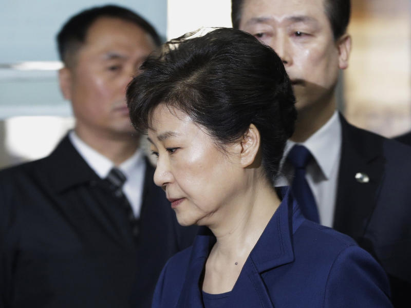 Ms Park was impeached from office in March over a corruption scandal that plunged the country into political turmoil: AP
