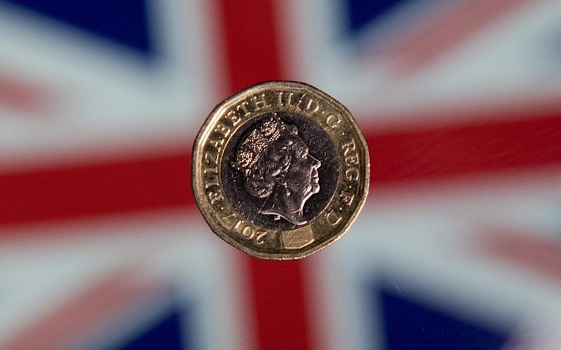 The pound hit a two-month high after the close of London trading yesterday, but has since pulled back slightly - AFP