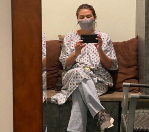 Zsa Zsa Padilla shares this photo of her at a hospital in California