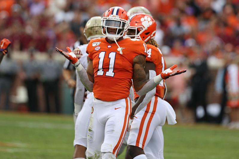 Clemson's Isaiah Simmons just keeps shrugging off his doubters with another impressive season. (Photo by John Byrum/Icon Sportswire via Getty Images)