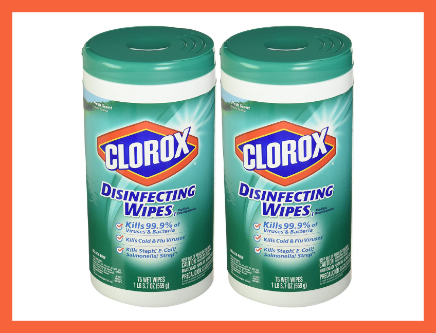 Clorox Fresh Scent Disinfecting Wipes—75 Count (two-pack). (Photo: Amazon)
