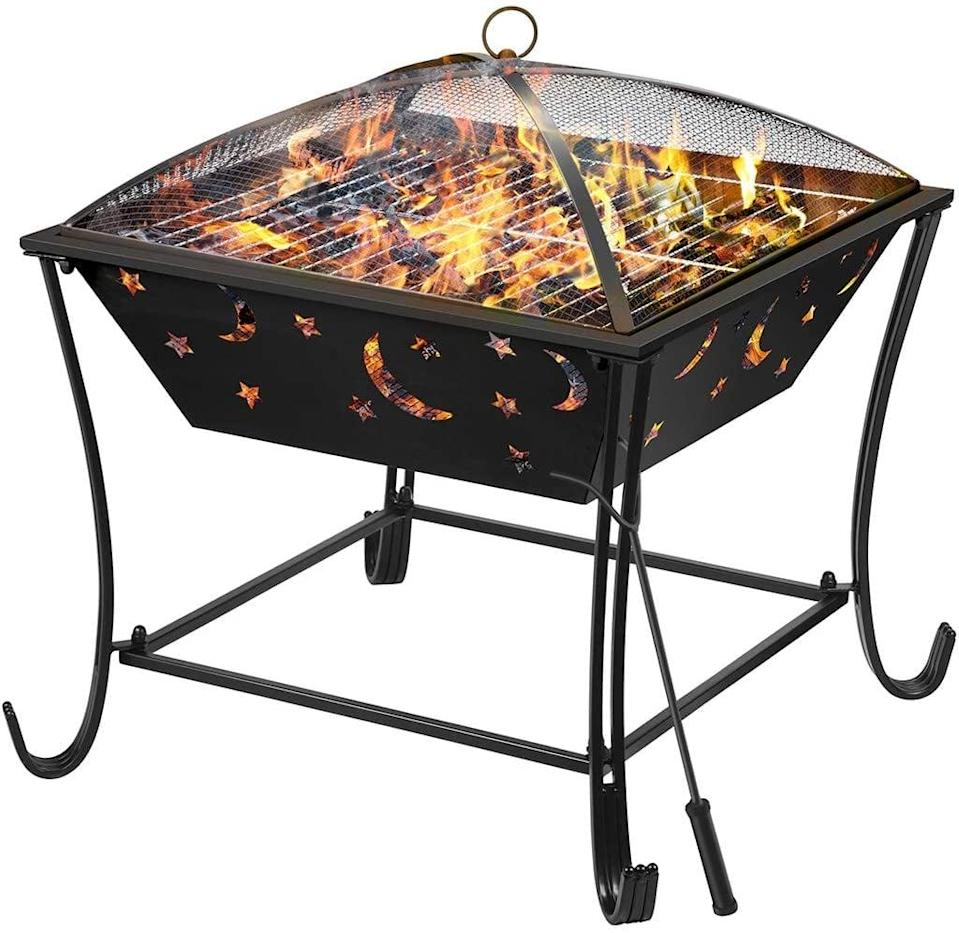 <p>You'll be seeing stars when you use this <span>Finether Outdoor Fire Pit</span> ($135) to grill.</p>