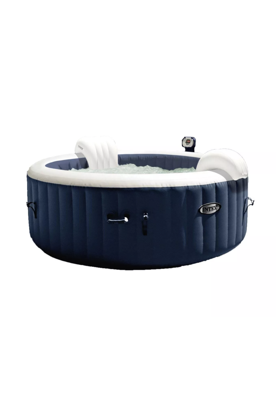 """<p><strong>Intex</strong></p><p>target.com</p><p><strong>$769.99</strong></p><p><a href=""""https://www.target.com/p/intex-purespa-4-person-home-inflatable-portable-heated-bubble-round-hot-tub/-/A-76120308"""" rel=""""nofollow noopener"""" target=""""_blank"""" data-ylk=""""slk:SHOP IT"""" class=""""link rapid-noclick-resp"""">SHOP IT</a></p><p>If you're feeling very extra these days, allow Intex's inflatable round hot tub to give you a home spa experience like no other. It comes with 140 high-powered jets and a control panel to make sure the water temperature is exactly how you like it. </p>"""