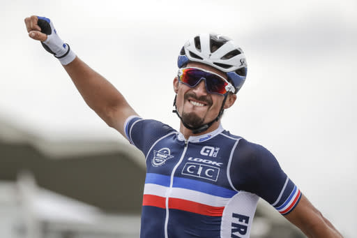 Alaphilippe 1st French road race world champion since 1997