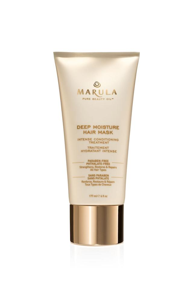 """<p>Marula oil is one of those beloved skincare aides with natural hydrating and anti-aging properties. So when you hear that there's a hair mask made of the stuff, you listen up. This one's safe on color-treated hair and won't leave a greasy residue on your strands.<span></span></p><p><strong>Marula Deep Moisture Hair Mask Intense Conditioning Treatment, $36; <a rel=""""nofollow"""" href=""""http://www.sephora.com/deep-moisture-hair-mask-intense-conditioning-treatment-P398659?skuId=1698992&icid2=products%20grid:p398659"""">sephora.com</a>.</strong></p>"""