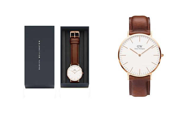 "<p>St Mawes classic 40MM, $229, <a href=""https://www.danielwellington.com/us/dw-watch-men-classic-st-mawes-rose-gold-40mm"" rel=""nofollow noopener"" target=""_blank"" data-ylk=""slk:danielwellington.com"" class=""link rapid-noclick-resp"">danielwellington.com</a> </p>"