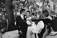 <p>Diane von Furstenberg became a Princess when she married Prince Egon von Furstenberg in 1969. The couple's nuptials were more casual than your typical royal wedding, with the bride's long sleeve eyelet lace dress and the couple's outdoor reception in France. </p>