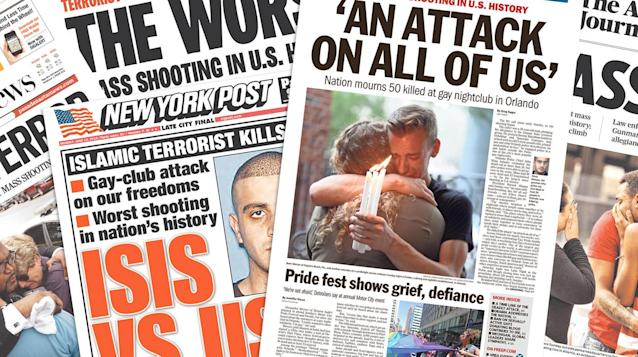 <p>Here is some of the front-page newspaper coverage of the attack from around the world. (newseum.org) </p>