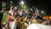 <p>Neo-Nazis, Alt-Right, and White Supremacists take part the night before the 'Unite the Right' rally in Charlottesville, Va. White supremacists march with tiki torchs through the University of Virginia campus, Aug. 11, 2017. (Photo: Zach D. Roberts/NurPhoto via Getty Images) </p>
